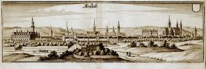Arnstadt Kupferstich von Matthäus Merian d.Ä. von 1650